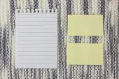Note Paper On Texture Background