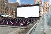 WROCLAW, POLAND - AUGUST 3: Empty cinema before the evening show as part of New Horizons Cinema, Pol