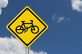 Bike Route Warning Sign