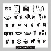 Set of dentistry symbols, part 2