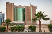 Dammam, Saudi Arabia - May 15, 2014: Movenpick Hotel Exterior In Dammam City, Saudi Arabia