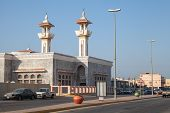 Rahima, Saudi Arabia - May 19, 2014: Street View With Mosque And Road, Saudi Arabia