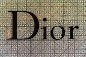 BANGKOK - APRIL 4   The sign of Dior at Dior store on Apr 4, 2014 in Suvarnabhumi Bangkok, Thailand
