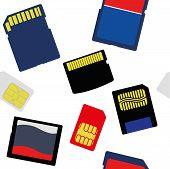 Illustration Of Selection Of Memory And Sim Cards