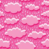 seamless pattern of clouds and rain