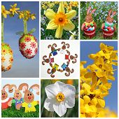 Easter Collage Of Seven Pictures
