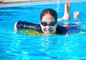 Young Woman Girl In The Pool