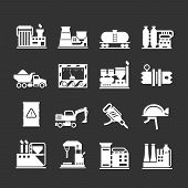 Set Icons Of Industrial And Factory
