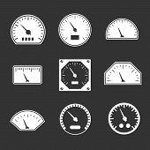 Set Icons Of Speedometers