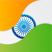 Indian national flag tricolor with Asoka Wheel for 15th of August, Indian Independence Day celebrati