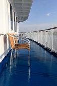 Armchair On A Deck Of Ship
