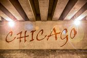 The Word Chicago Painted As Graffiti