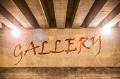 The Word Gallery Painted As Graffiti