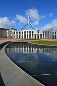 Still water Parliament House Canberra Australia