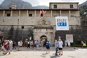 Kotor, Montenegro - July 9: Entrance Of Old Town Kotor On July 9, 2014 In Montenegro