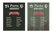vintage wooden pasta shop sign