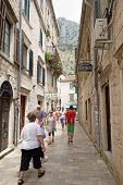 Kotor, Montenegro - July 9: Narrow Street On July 9, 2014 In Old Town Kotor, Montenegro