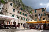 Kotor, Montenegro - July 14: View On Small Square In Old Town On July 14, 2014 In Kotor, Montenegro
