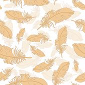 Plumage background seamless pattern vector.
