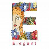 Letter E - Elegant