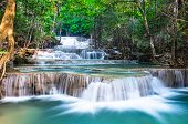 Waterfall At Huay Mae Khamin In Kanchanaburi