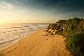 Sandy coast of the beach of Dreamland, Bali, Indonesia