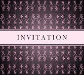 Invitation pink card