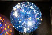 big blue diamond, closeup view