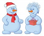 Snowballs with a gift box