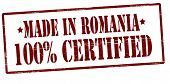Made In Romania One Hundred Percent Certified