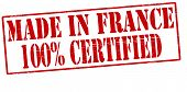 Made In France One Hundred Percent Certified