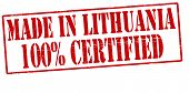 Made In Lithuania One Hundred Percent Certified