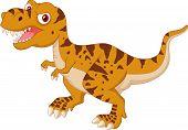 picture of tyrannosaurus  - Vector illustration of tyrannosaurus cartoon isolated on white - JPG