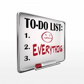 The Word Everything On To-do List Whiteboard