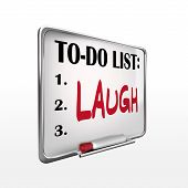 The Word Laugh On To-do List Whiteboard