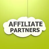 Affiliate Partners Word In Green Background