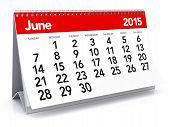 June 2015 - Calendar