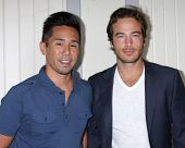 LOS ANGELES - AUG 2:  Parry Shen, Ryan Carnes at the