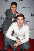 LOS ANGELES - AUG 4:  Aidan Moreno, Kristos Andrews at the