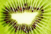 Background Of Slice Of Kiwi Ablazed With Light