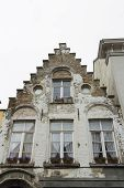 Bruges, Gable End Of Old Town House.