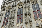 Details Of Town Hall, Stadhuis, Bruges.