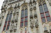 Details Of Town Hall, Stadhuis, Bruges.