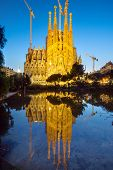 The Sagrada Familia at dawn