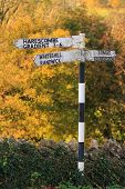 Old English Village Signpost