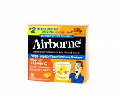 Hayward, CA - January 5, 2015: Packet of Airborne, a cold and flu preventative containing herbs and vitamin C