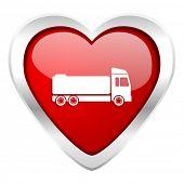 truck valentine icon cargo sign