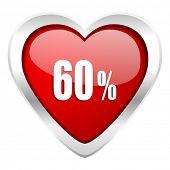 60 percent valentine icon sale sign