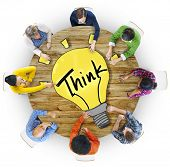 Aerial View People Ideas Innovation Motivation Think Concepts