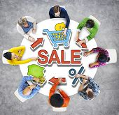 Diversity Casual People Sale Shopping E-business Team Meeting Concept